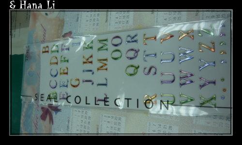 20081202 字母貼紙