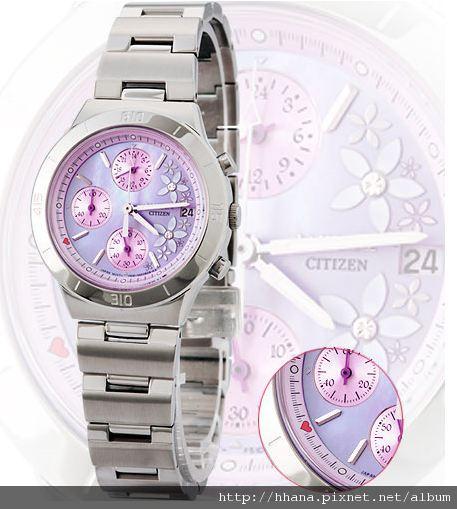CITIZEN 紫貝心戀晶鑽錶
