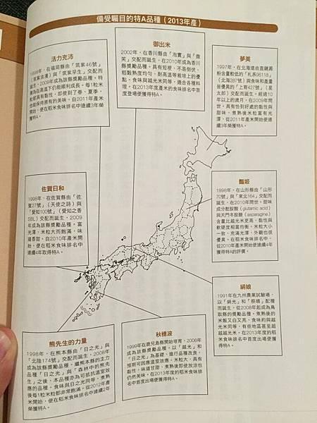 日本米的品種分部