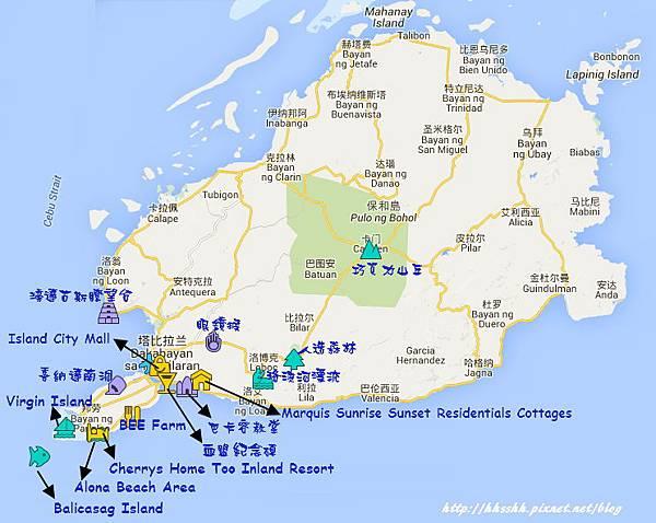 bohol trip map