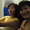 機上的兩人