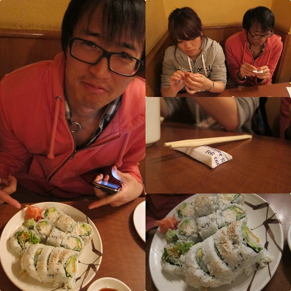 這幾天要吃素的求新,素的壽司