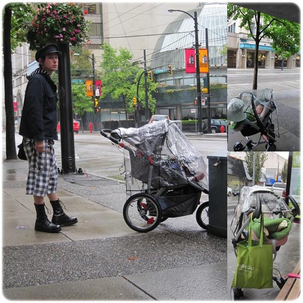 等公車,旁邊的爹好時尚