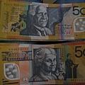 澳幣50元的正反面