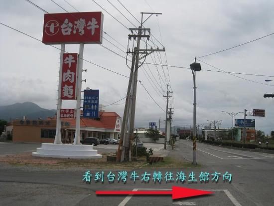 或往前一點台灣牛右轉