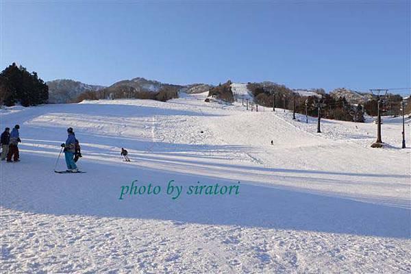 第一天的滑雪行程到此結束,準備回房間休息了!