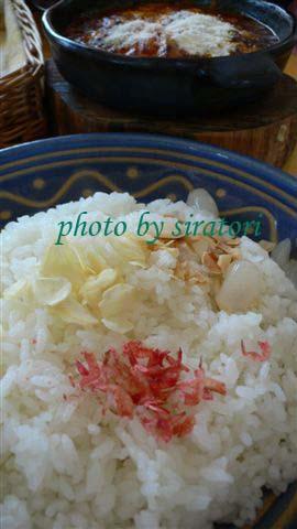"""白飯上還可以撒上日本所謂的""""藥味"""",味道很正。"""