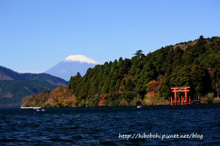 箱根神社與富士山