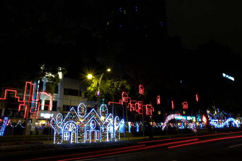 中山北路元宵街燈