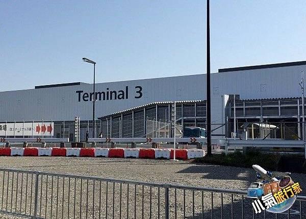 東京成田機場3航廈外觀。