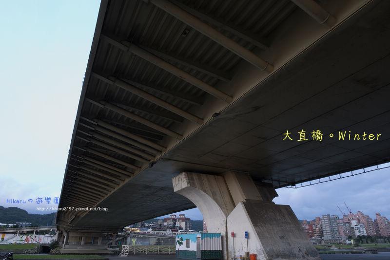 冬天の大直橋