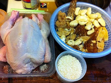 台灣料理─蒜頭糯米雞