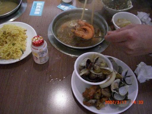 三.日式昆布火鍋煮蝦子