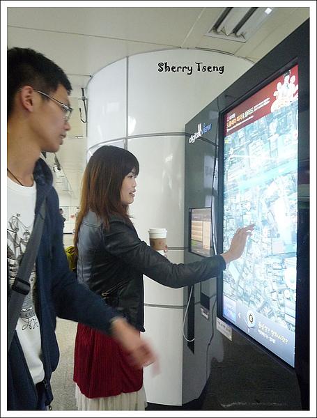 韓國地鐵的觸控式衛星空照圖