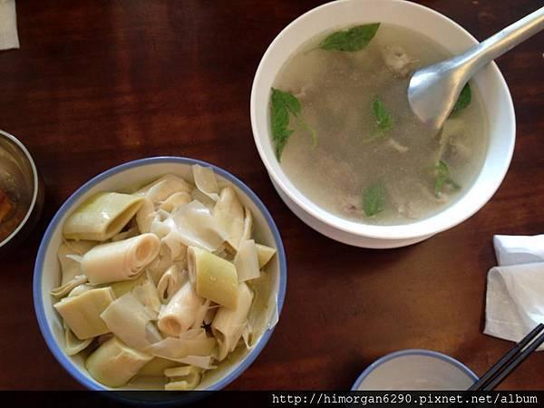 福樂麵店油燜桂竹筍及骨仔肉湯