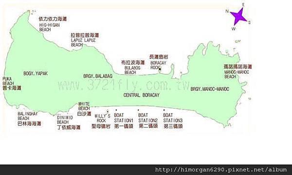 長灘島地圖