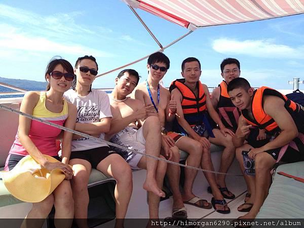 長灘島拖曳傘上船-1