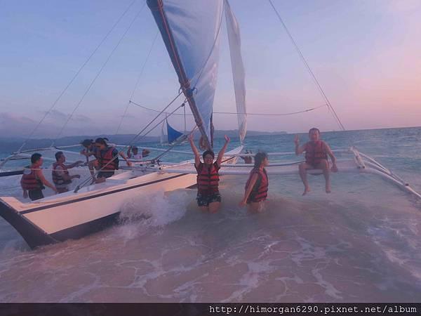 長灘島風帆船-下船-1