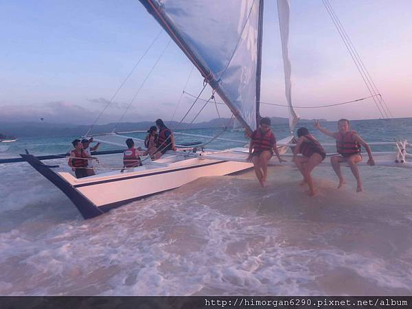 長灘島風帆船-下船