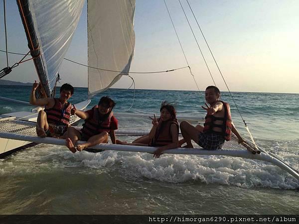 長灘島風帆船-上船-5