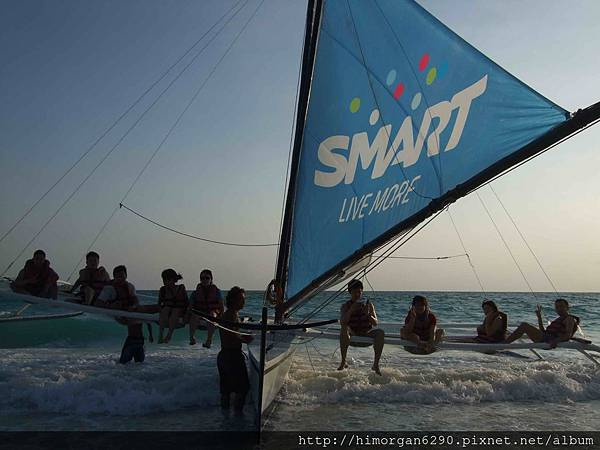 長灘島風帆船-上船