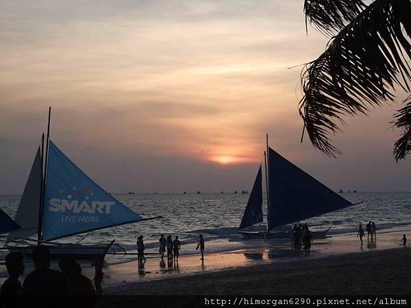 長灘島風帆船-夕陽-1