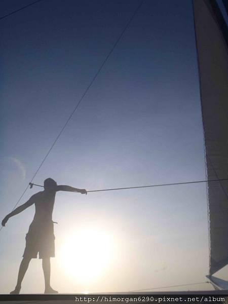 長灘島風帆船-夕陽-2