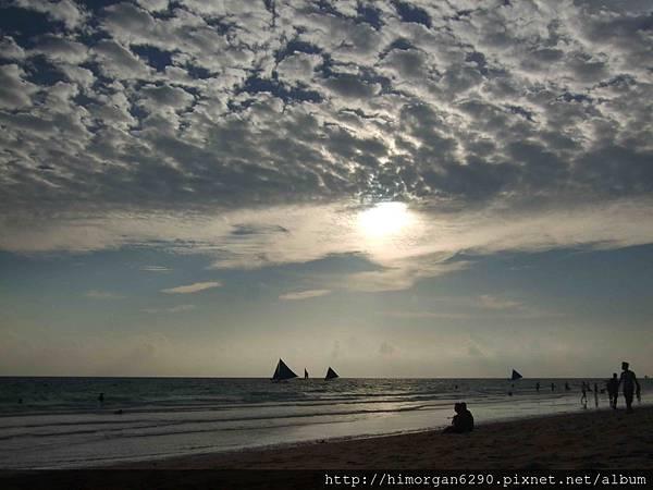 長灘島風帆船-夕陽-3