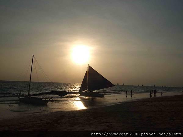 長灘島風帆船-夕陽