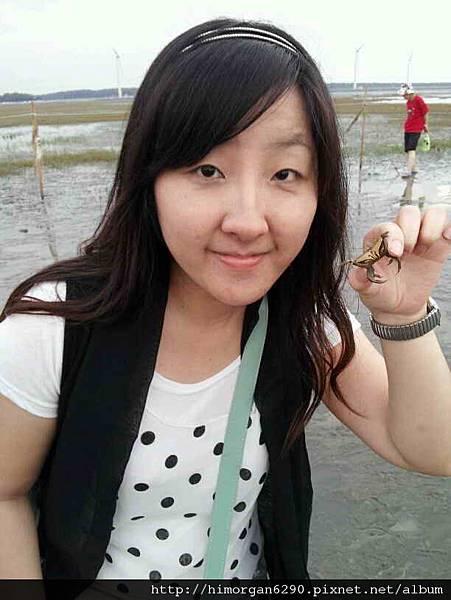 高美溼地螃蟹合照