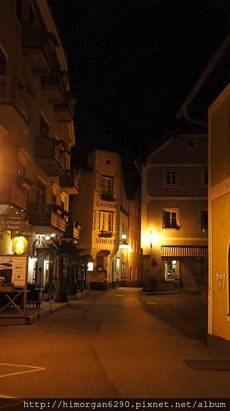 Austria Hallstatt 晚上街景-2