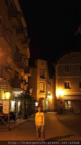 Austria Hallstatt 晚上街景-4
