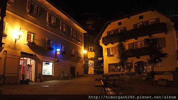 Austria Hallstatt 晚上街景-5