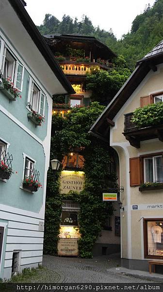 Austria Hallstatt餐廳入口