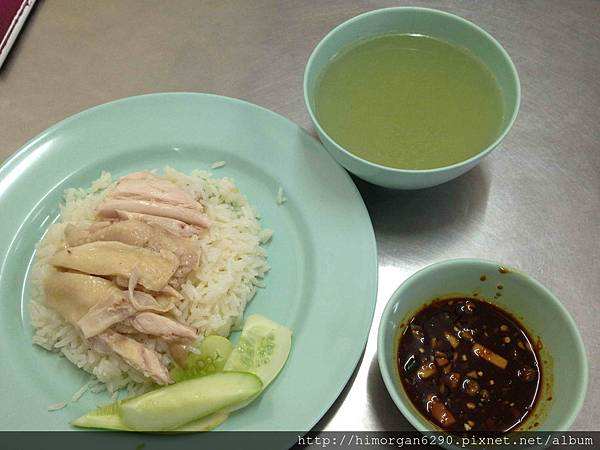 泰國-水門市場海南雞飯-海南雞飯