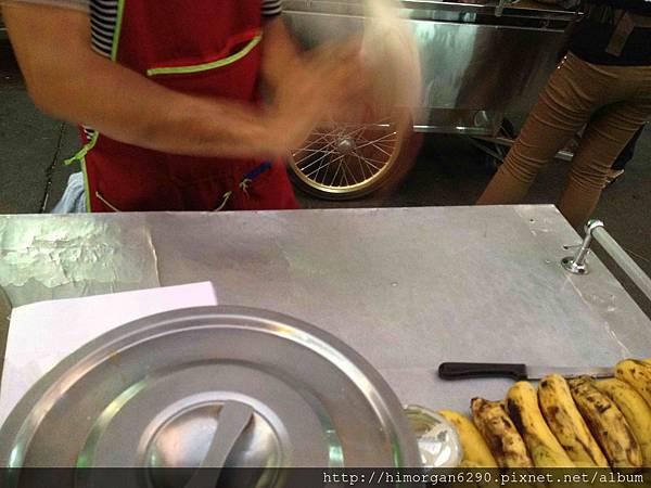 泰國-考山路香蕉煎餅-1