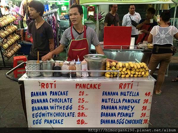 泰國-考山路香蕉煎餅