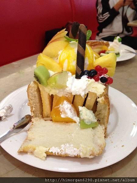 胖達咖啡輕食館-水果派對蜜糖吐司-6