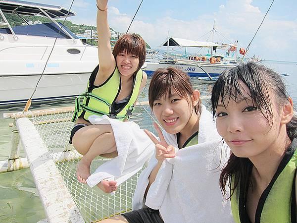 接下來是搭帆船了