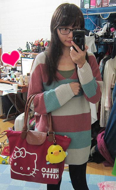 新衣服+新包包+幻靈送的鼻孔雞