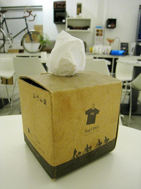 面紙盒,也是自製品