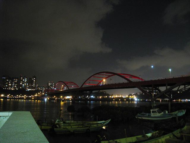 八里岸邊的關渡大橋