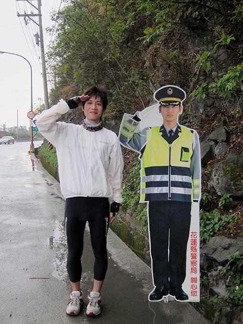 花蓮隨處可見的警察XD