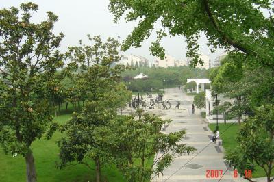 苏州,公交車之旅--桂花公園6(96.6.16)