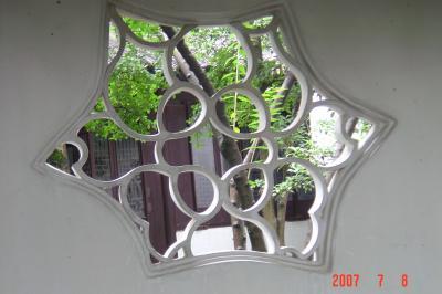 苏州园林的趣味(4):滄浪亭的108式花窗5(96.7.17)