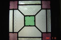 蘇州園林的趣味(7):獅子林的彩色花窗入畫來5(96.7.26)