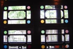 蘇州園林的趣味(7):獅子林的彩色花窗入畫來7(96.7.26)