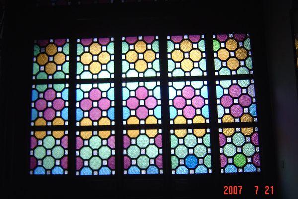 蘇州園林的趣味(7):獅子林的彩色花窗入畫來9(96.7.26)