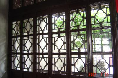 蘇州園林的趣味(7):獅子林的彩色花窗入畫來11(96.7.26)