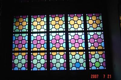 蘇州園林的趣味(7):獅子林的彩色花窗入畫來14(96.7.26)